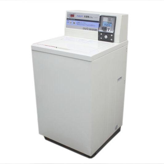 V8283NU コインランドリー 洗濯機 アクア MCW-C45 15年製 洗濯脱水4.5kg コイン式 AQUA ハイアール 200円仕様業務用