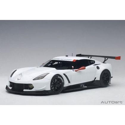 1/18 シボレー コルベット Corvette C7R Plain Color Version 白い W/赤 Accents オートアート AUTOart