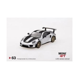 Silver Weissach Package MINI GT 1:64 TSM PORSCHE 911 991 GT2 RS NEUF