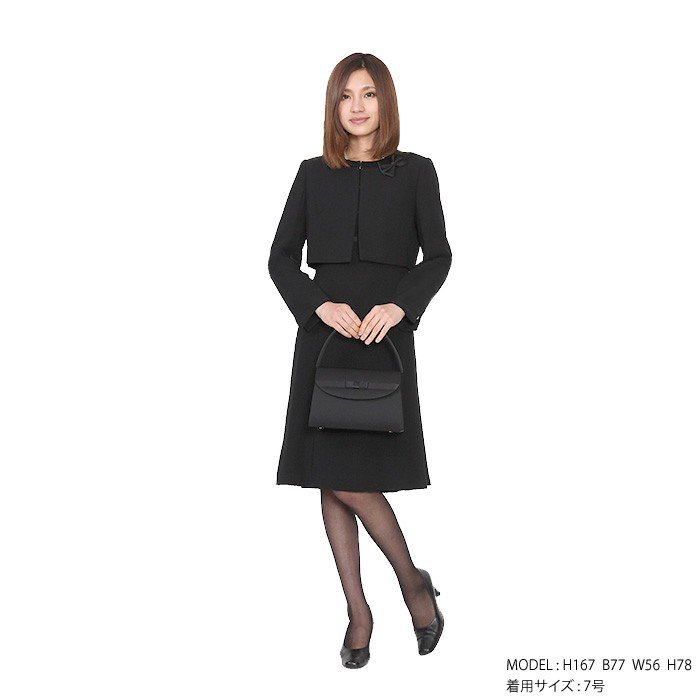 レンタル ボレロジャケットアンサンブル 喪服 礼服 レディース ワンピース 大きいサイズ  FOL-FX6P039A|r-rental|03