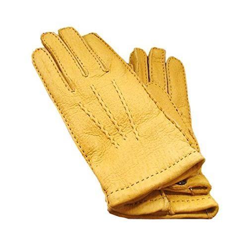 DENTS(デンツ) 15-1564C ライトブラウン/CORK ペッカリー (猪豚革) レザーグローブ(革手袋) (7·1/2 (S寸))