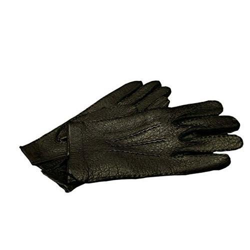 DENTS(デンツ) 15-1041 BLACK/ブラック ペッカリー (猪豚革) レザーグローブ(革手袋) (7 (XS寸)) 並行輸入品