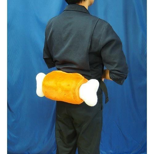 【マンガ肉こんがり茶ぬいぐるみバック41cm】大容量ポーチ|rabbittail-net|04