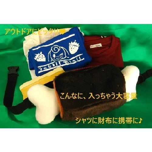 【マンガ肉こんがり茶ぬいぐるみバック41cm】大容量ポーチ|rabbittail-net|05