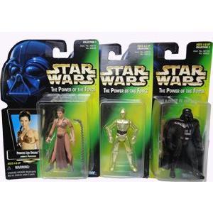 スターウォーズ C-3PO&レイヤ イン スレイプガール&ダース・ベイダー フィギュア 3パックセット|racimall