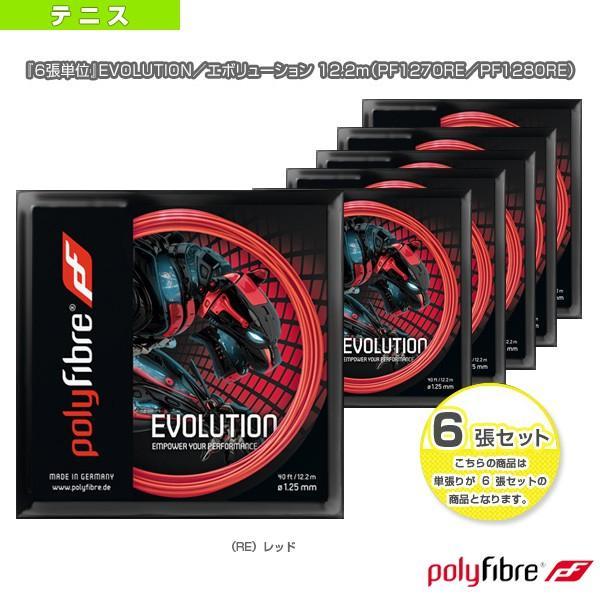 ポリファイバー テニスストリング(単張) 『6張単位』EVOLUTION/エボリューション 12.2m(PF1270RE/PF1280RE)ガット