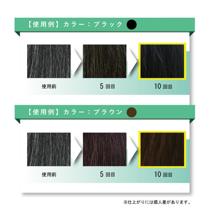 2個セット 利尻昆布 ヘアカラー シャンプー トリートメント 250mL 白髪染め ノンシリコン|rafflet|05