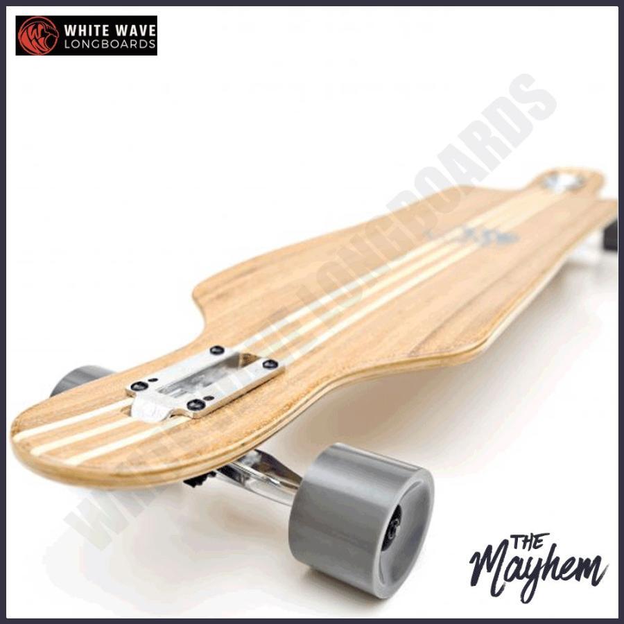 白い WAVE ロングスケートボード ホワイト ウェーブ ロングボード The Mayhem 41インチ ロンスケ コンプリート
