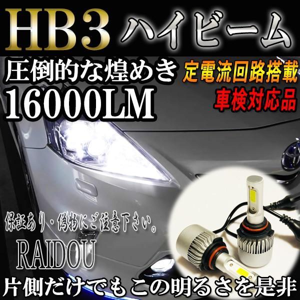 デリカ D5 H19.1〜 CV5W ヘッドライト ハイビーム用 HB3 9005 LED raidou