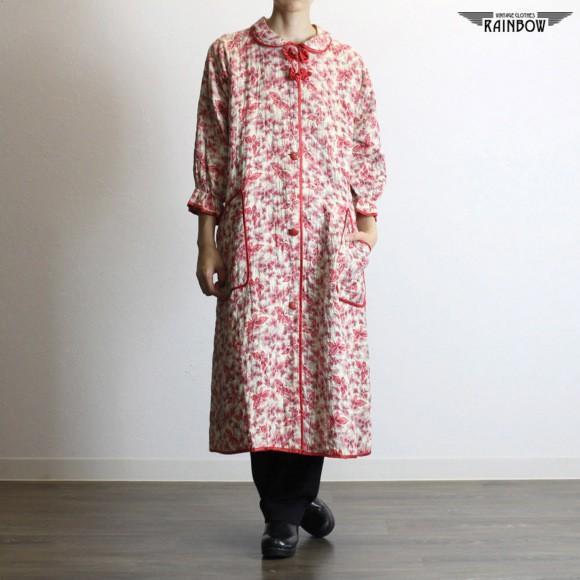魅力的な 古着 生成り 赤 プリント キルティング ライト コート 七分袖 アウター レディース ヴィンテージ (古着屋RAINBOW 通販) (ttu1709218), ニシアリタチョウ b69e8067