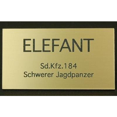 cobaanii mokei工房 FS-031 AFVネームプレート WW.II ドイツ エレファント サイズ:35x55(mm) アクリル板 rainbowten