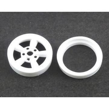 ASUKA MODEL Orange wheels 1/24 OW-04 A-style(スタイル) 白色4個(1台分) オマケパーツ:超深リム ※15インチ相当|rainbowten