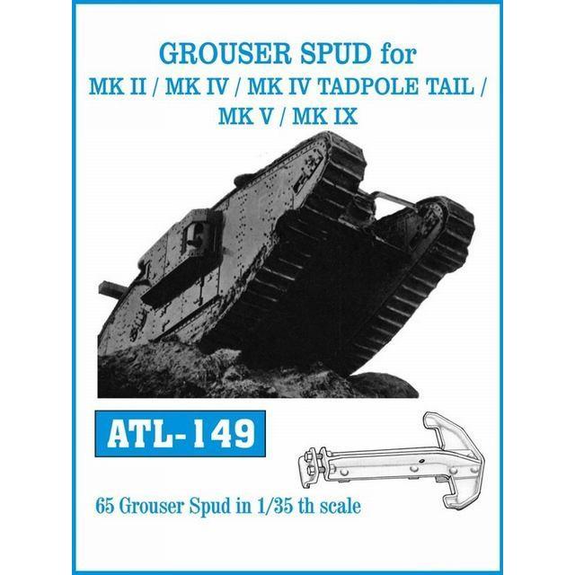 フリウルモデル ATL149 1/35 菱形戦車 グローサーセット(共通/ホワイトメタル)|rainbowten