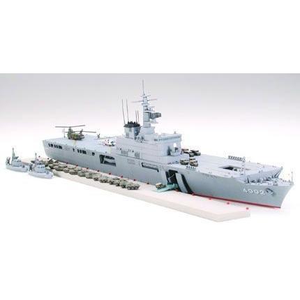 タミヤ 006 1/700 海上自衛隊輸送艦 LST-4002 しもきた rainbowten 02