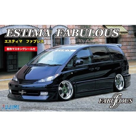 フジミ ID22 1/24 トヨタ エスティマ ファブレス(窓枠マスキングシール付) rainbowten