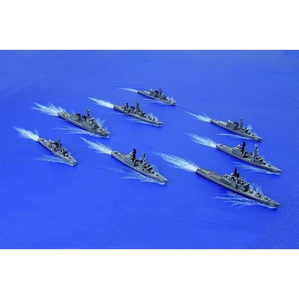 フジミ 集める軍艦シリーズ No.36 1/3000 海上自衛隊第3護衛隊群 1998年 はるな みょうこう 等8隻|rainbowten|02
