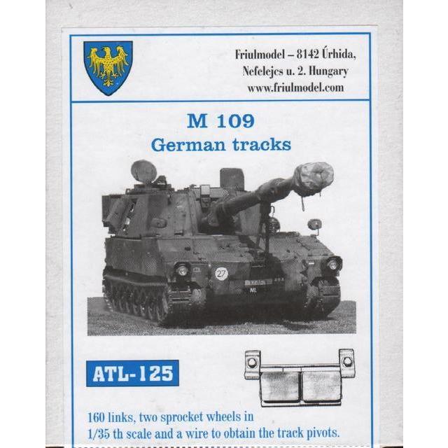 フリウルモデル ATL125 1/35 M109 ドイツ連邦軍仕様用キャタピラ メタル 可動 rainbowten