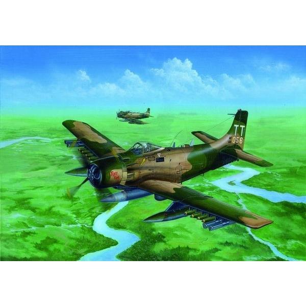トランペッターモデル 2254 1/32 A-1J/AD-7 スカイレーダー rainbowten