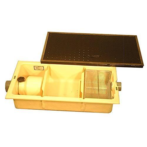 FRP製浅型グリーストラップ パイプ流入埋設型 13L(点検蓋付) TOSC-630R