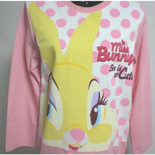 パジャマ  ナイトウェア レディース 長袖 婦人 ディズニー ミス バニー ニット生地  disney Disney Miss Bunny バンビ|raitopj|02