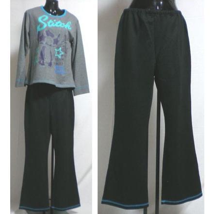 パジャマ レディース ディズニー スティッチ ナイトウェア 長袖  小さいサイズ  S/M/Lサイズ Disney  disney ニット生地 raitopj 04