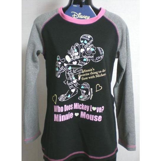パジャマ レディース 冬用 婦人 ミニーマウス  ディズニー 裏起毛生地  上着はラグラン袖   Disney|raitopj|02