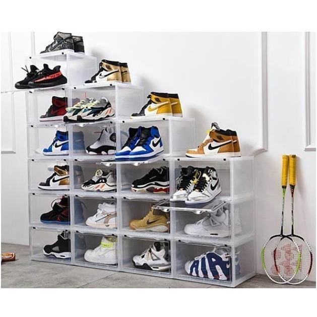 Sneaker Box スニーカーボックス SHOES BOX 横開き シューズ ボックス 靴箱 ブラック、クリアケース 6個1セット raki-store 06