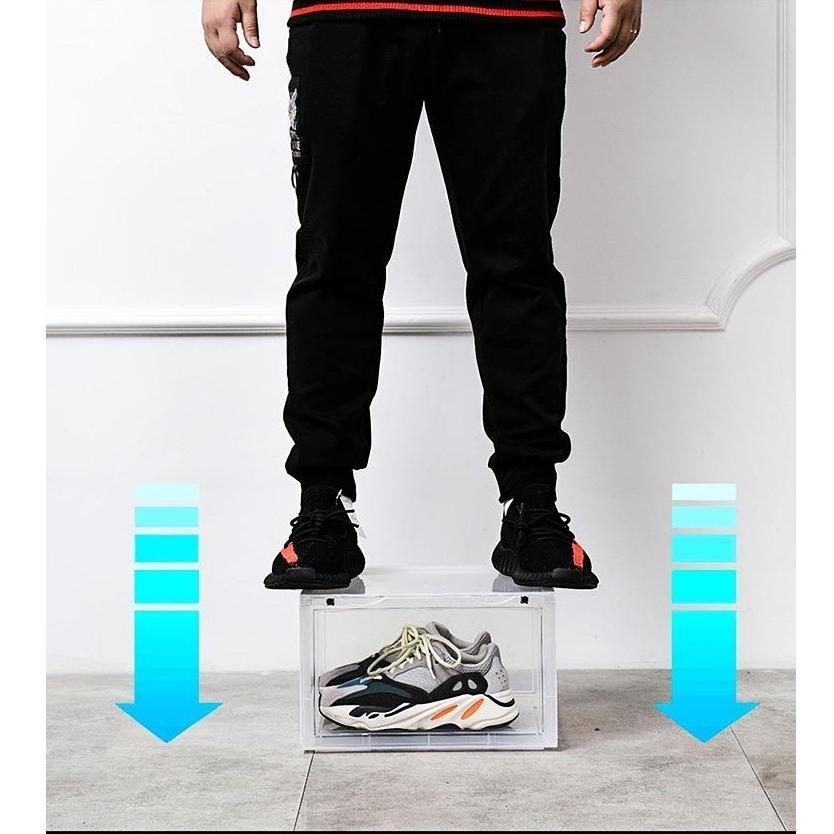 Sneaker Box スニーカーボックス SHOES BOX 横開き シューズ ボックス 靴箱 ブラック、クリアケース 6個1セット raki-store 08