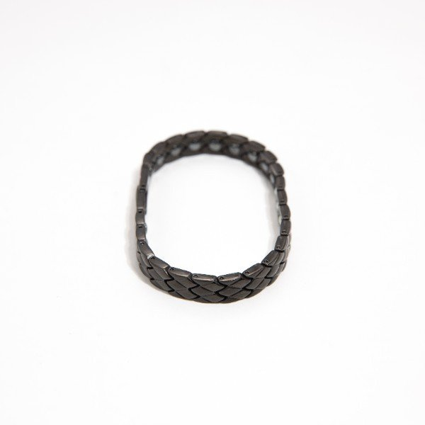 Rakii ラキー ゲルマニウムブレスレット レディース 純度99.99 ステンレス ヘマタイト ブラック|rakii|02
