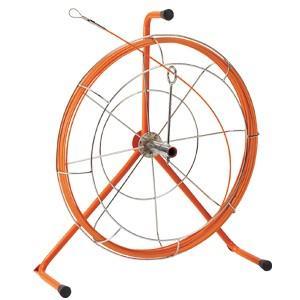 『3年保証』 ジェフコム デンサン 電設作業工具 ジョイント釣り名人 リール入り長尺タイプ 30m ロッド+フレーム JF-4030RS, FLORA 717d27eb