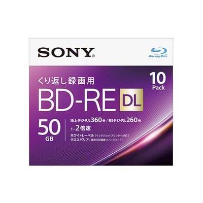 SONY 10BNE2VJPS2 録画用BD-RE DL Blu-rayDis 5mmスリムケース入10枚パック