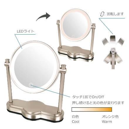 (キャッシュレス5%還元)アイキャッチ EC014LXAC-5X 真実の鏡 Luxe Luxe Luxe クラシック型 60e