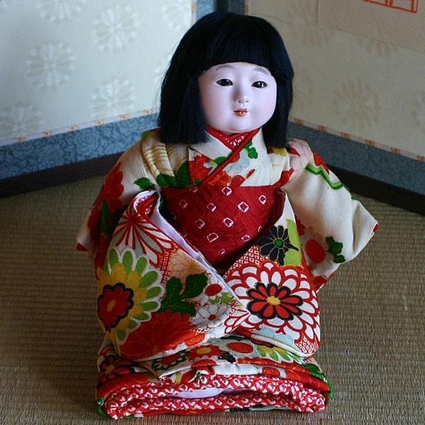 京製市松人形 スワリ 【送料無料!】【雛人形】