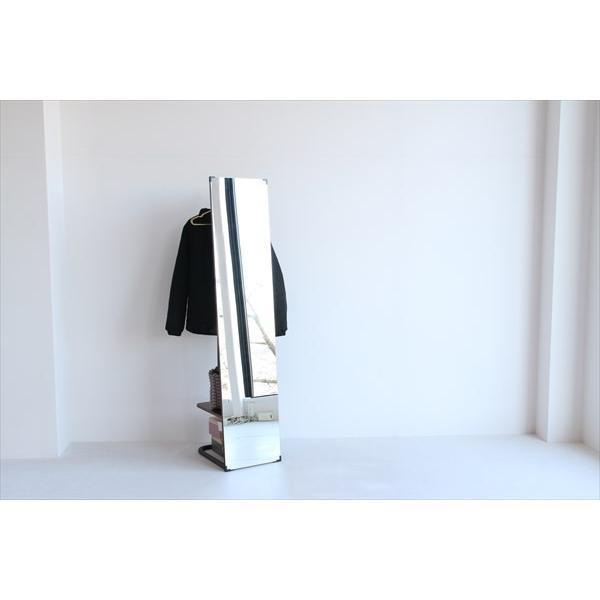 鏡 ミラー インテリアミラー スタンドミラー 姿見 ウォールミラー 壁掛け鏡 ハンガーラック ルームミラー 幅35cm 高160cm|rakusouya