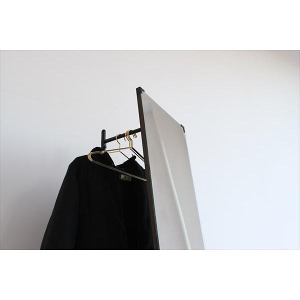 鏡 ミラー インテリアミラー スタンドミラー 姿見 ウォールミラー 壁掛け鏡 ハンガーラック ルームミラー 幅35cm 高160cm|rakusouya|11