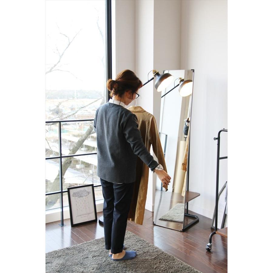 鏡 ミラー インテリアミラー スタンドミラー 姿見 ウォールミラー 壁掛け鏡 ハンガーラック ルームミラー 幅35cm 高160cm|rakusouya|17