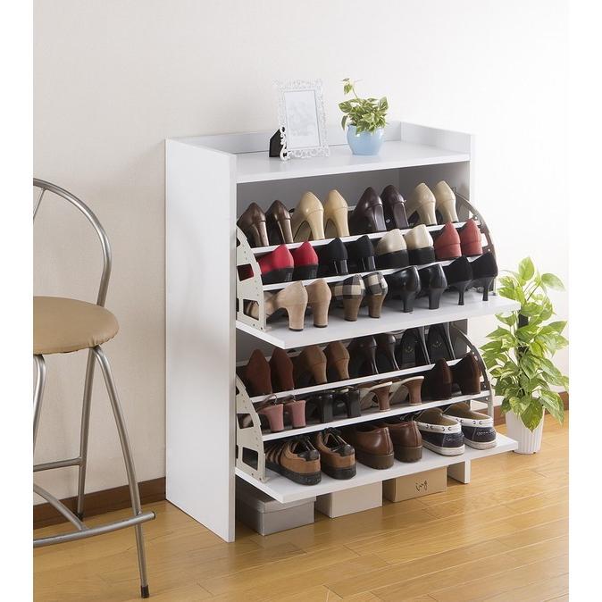 靴箱 シューズラック 玄関 ラック 棚 棚 スリム コンパクト 省スペース 下駄箱 シューズラック シューズボックス 靴箱 2段