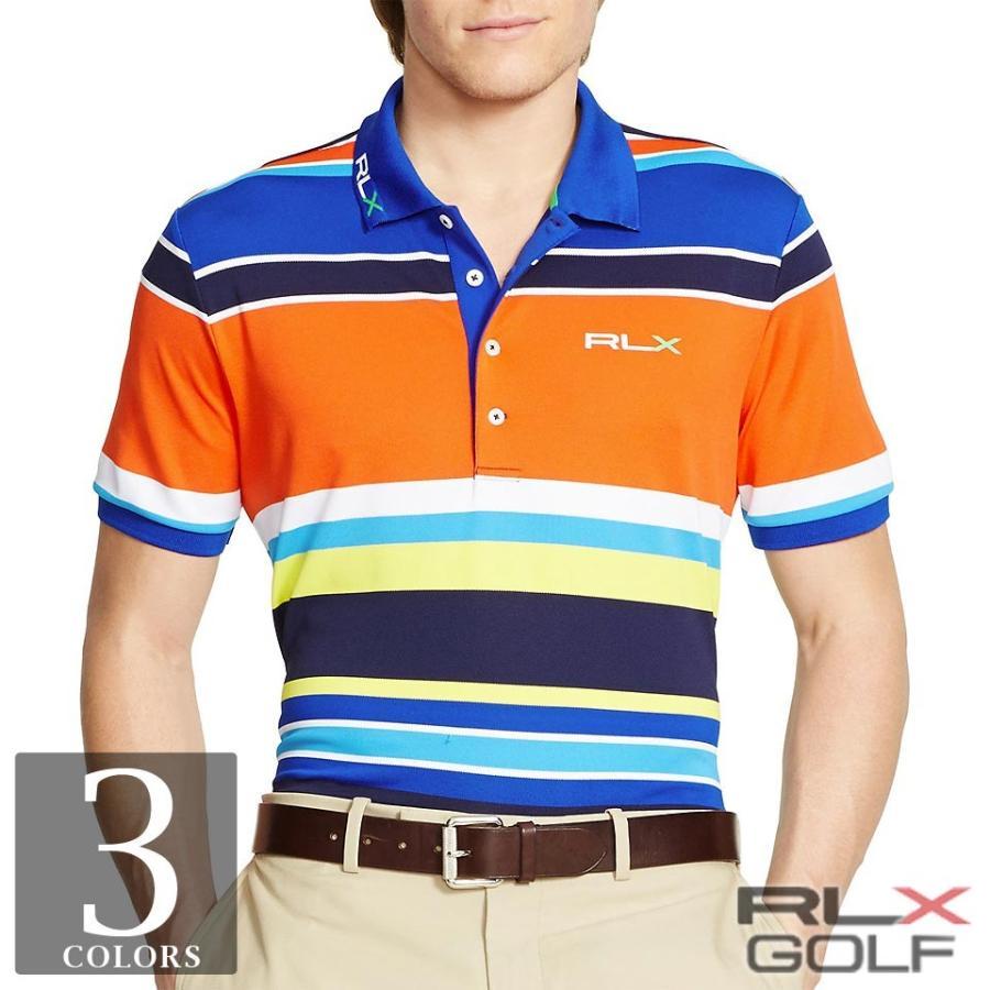 RLX ゴルフ/ラルフローレン : Pro-Fit Multi-Striped Polo [速乾ストレッチ/半袖ポロシャツ]