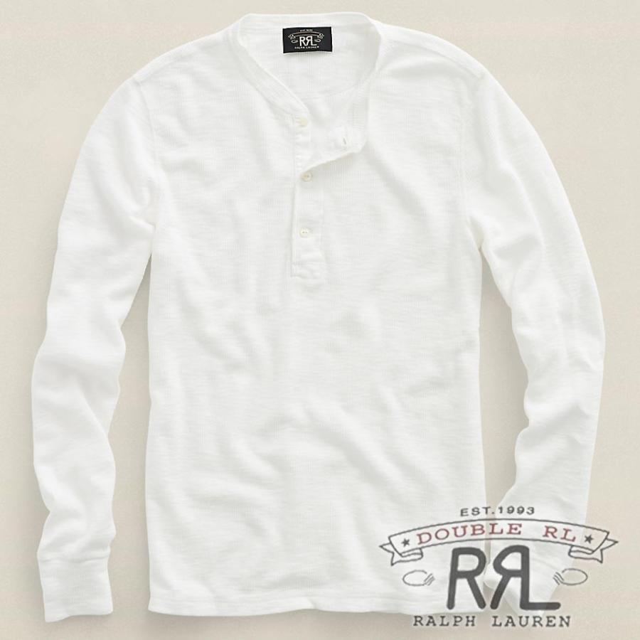 RRL/ダブルアールエル : Long Sleeve Henry [柔らかワッフルニット/ヘンリー/長袖Tシャツ] ralph-raftaf