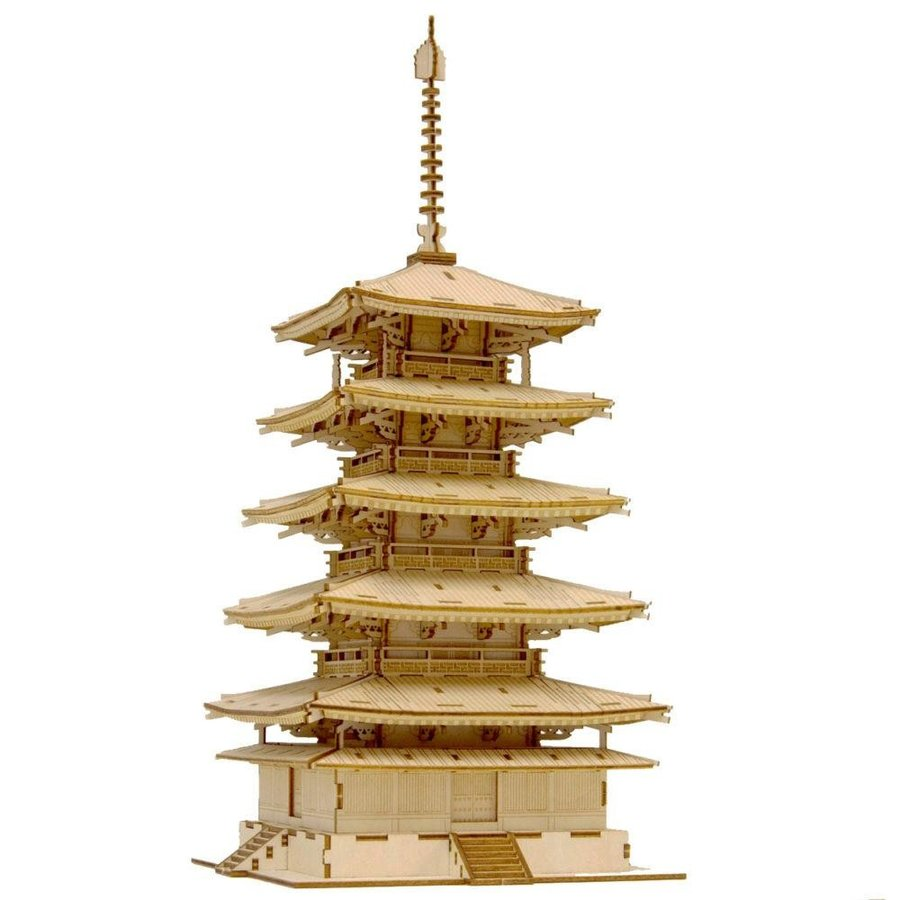基本送料499円!Wooden Art ki-gu-mi 五重塔