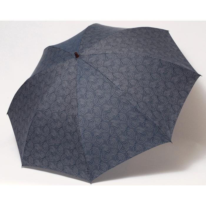 【送料無料】 晴雨兼用2段折り畳み傘58×8伊勢型紙渦 UV遮蔽率90%以上 折りたたみ傘りたたみ/雨具/黒/メンズ/レディース ギフト|ramuda|03