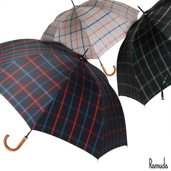 70×8NEWチェック【送料無料】 傘/雨具/レイングッズ/かさ/カサ/携帯/メンズ/レディース/男女兼用/父の日 ギフト|ramuda
