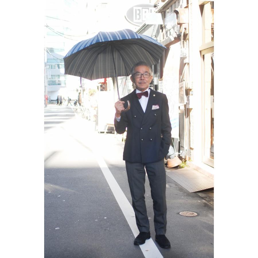 【送料無料】2段折りたたみ傘RAMUDA 55×8軽量トップレス 折りたたみ 傘 甲州織(レジメンタル)ストライプ楓手 【2163051bu】|ramuda|05