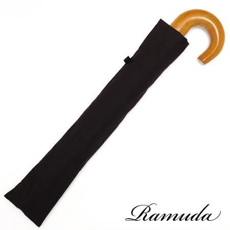 【送料無料】 2段折り畳み58×8タフレックス無地(ブラック)【313103b】折りたたみ傘|ramuda