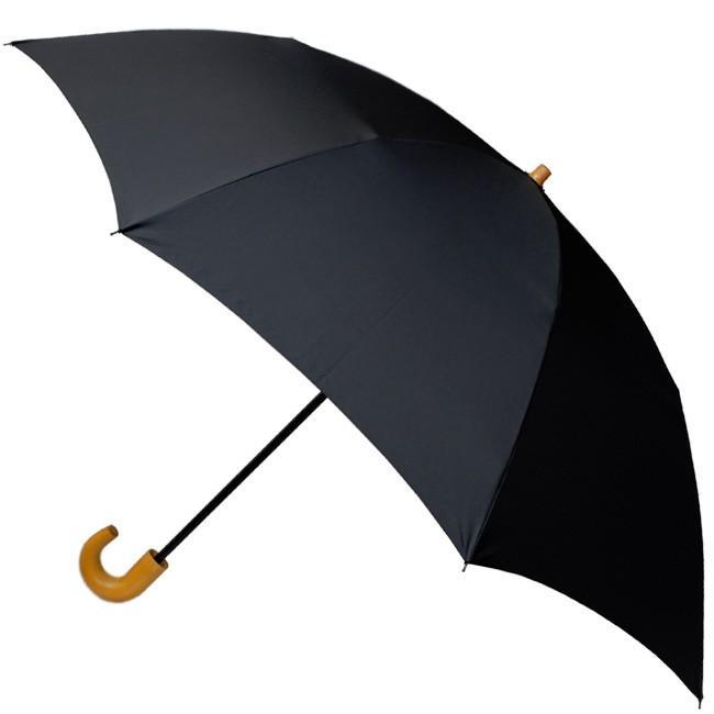 【送料無料】 2段折り畳み58×8タフレックス無地(ブラック)【313103b】折りたたみ傘|ramuda|03