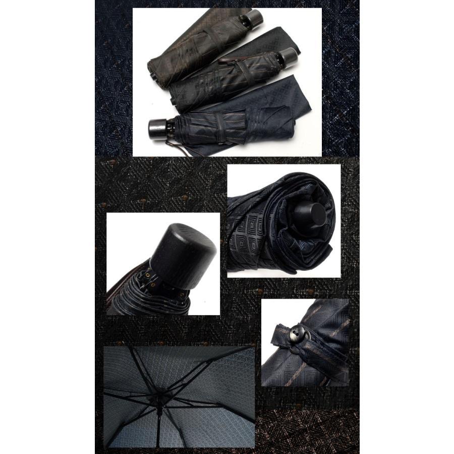 【送料無料】RAMUDA 55×6イタリー小紋ザイテルミニフラット 傘/携帯/メンズ/レディース/男女兼用/黒/父の日 ギフト|ramuda|05