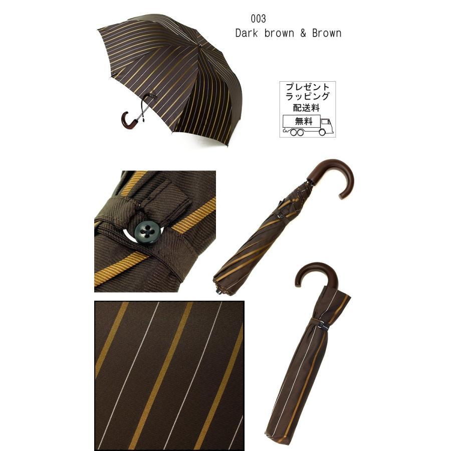 【送料無料】55×8 Mini topless umbrella チョークストライプ  トップレス式2段式おりたたみ傘ニッケルスチール骨 折たたみ傘|ramuda|04