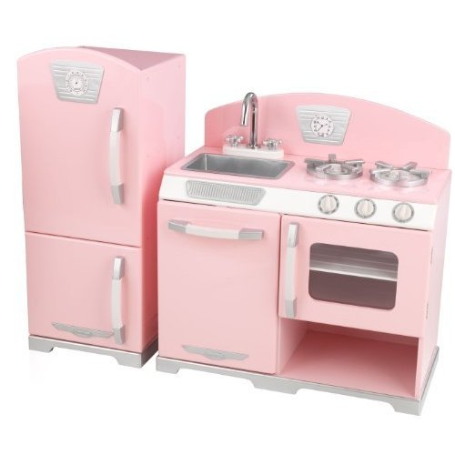 KidKraft ピンクレトロキッチンと冷蔵庫 53347 53160
