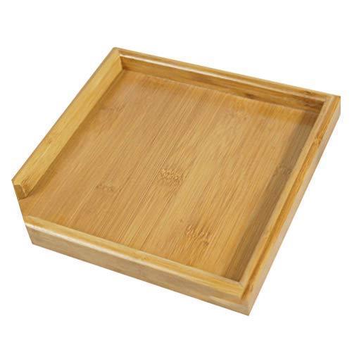 TOPBATHY 茶皿竹茶サービングプレート四角形ティーコーヒープラッター木製ティーボード多目的サービング皿オ?|ranchan-tsuyoshi