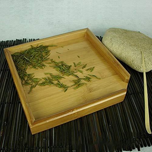 TOPBATHY 茶皿竹茶サービングプレート四角形ティーコーヒープラッター木製ティーボード多目的サービング皿オ? ranchan-tsuyoshi 05